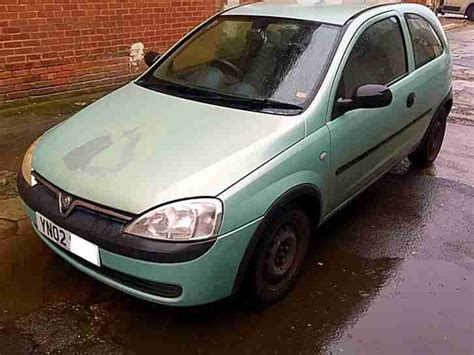 Green Vauxhall Corsa 2002 Vauxhall Corsa Club 1 0 12v Mint Green Only 61 000