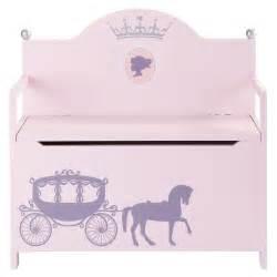 banco baul infantil banco ba 250 l infantil de madera rosa an 77 cm princesse