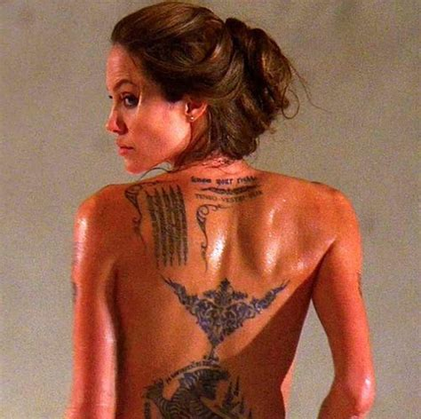 angelina jolie tattoo in wanted movie angelina jolie tattoo wanted movie tattoo picture at