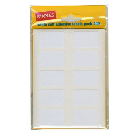 Self Adhesive Labels staples self adhesive labels 24 x 38mm white package 640 each staples 174