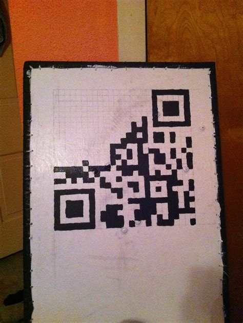 spray paint qr code painting a one qr code on a large surface make