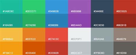 flat color combination color palette from flat ui colors palette website color