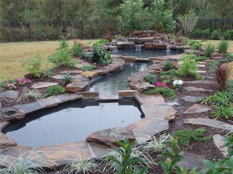 backyard pond ideas with waterfall natural pond landscaping home 187 garden ideas 187 large