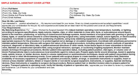 Surgical Assistant Cover Letter by Surgical Assistant Cover Letter On29209907