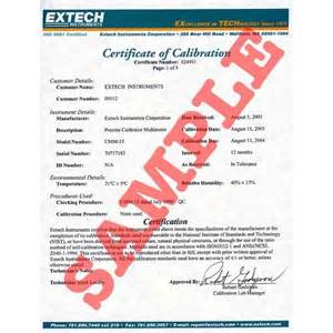 Pressure Calibration Certificate Template by Light Intensity Meters Extech Light Meter Nist