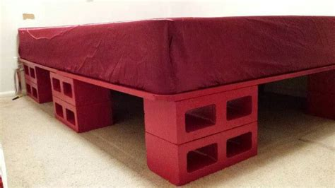 cinder block bed frame cinder block bed frame instructions diy how to storage