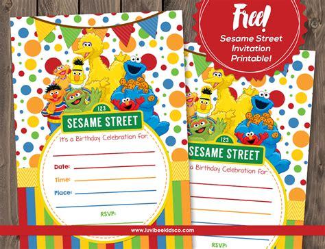 free sesame birthday invitation templates sesame free printable invitation
