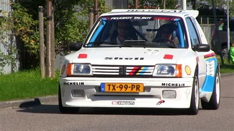peugeot 205 rally unique peugeot 205 rally car on the road loud sound