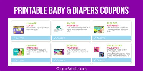 printable diaper coupons printable diapers wipes baby coupons coupon rebelle