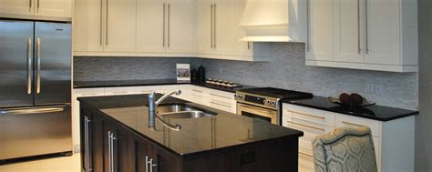 Granite Countertops With Black Cabinets by Bring Elegance Into Your Kitchen Black Granite Countertops