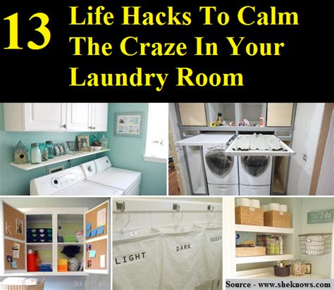 life hacks for bedroom laundry room storage