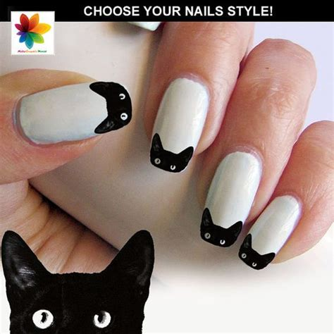 Cat Nail Sticker black cat nail cat nail puppy 100 waterslide