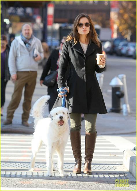 olivia wilde coffee run with paco 04 view image olivia wilde coffee run with paco photo 2759584