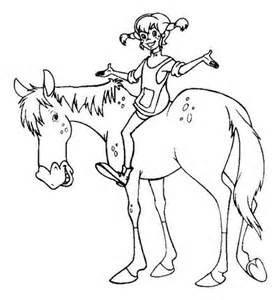 pippi longstocking riding horse coloring pages bulk color