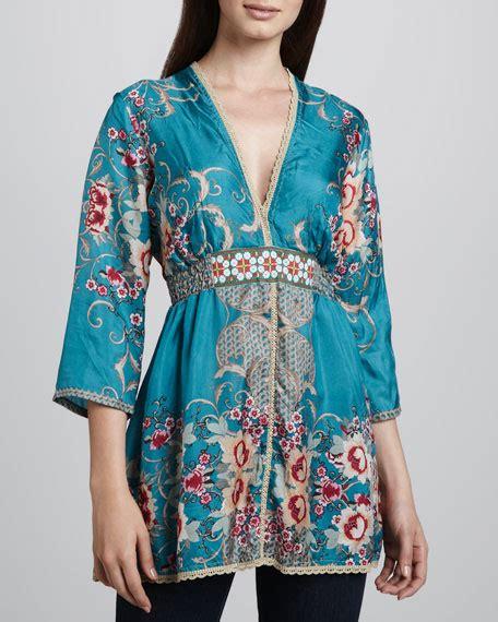 Deborah Top Clothing by Johnny Was Collection Deborah Printed Top S
