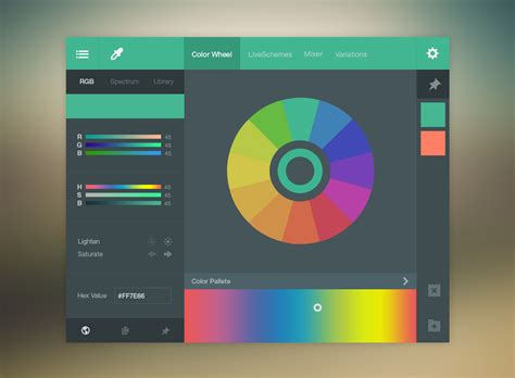 web color wheel colorwheel ui free psd psdexplorer
