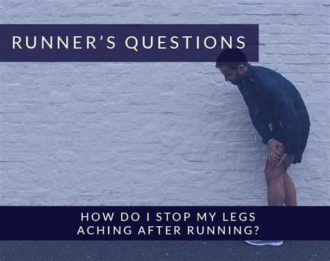 how do i stop my from how do i stop my legs aching after running alexandra sports