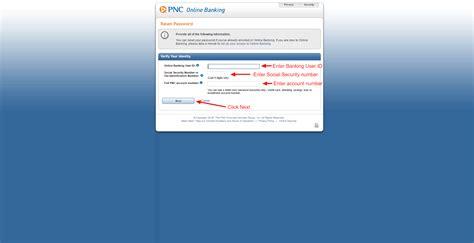 reset pnc online password pnc credit card online login cc bank