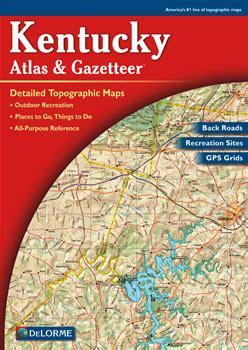 kentucky road map atlas kentucky delorme atlas road maps topography and more