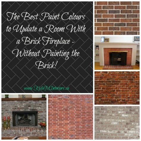 the best paint colours for walls to coordinate with a brick fireplace orange pink and