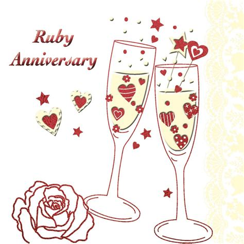 Ruby Wedding Anniversary Card Template by Invitation Cards Sles Invitation Cards Templates Free