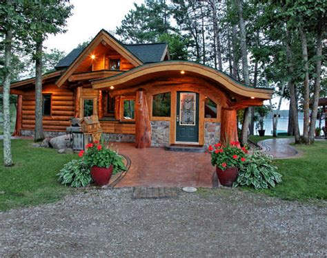 Cool Small Cabins by A Small Cabin Built With Unique Logs Cabin Life