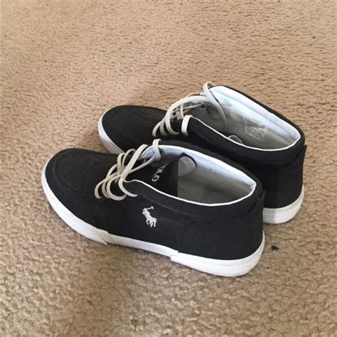 black and white polo shoes 36 polo by ralph other black and white high