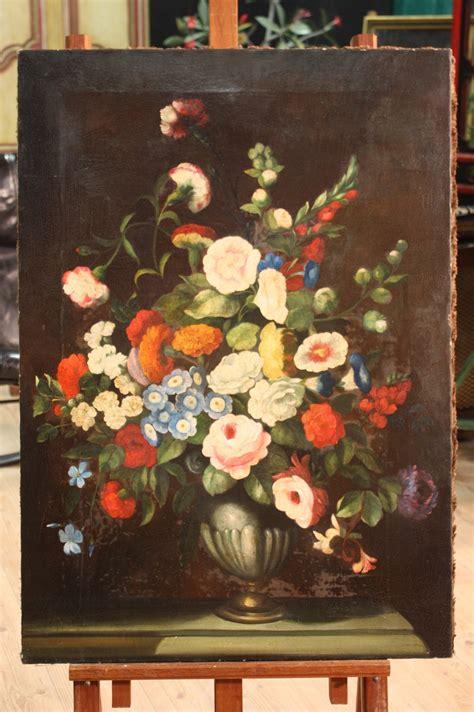 dipinti di vasi con fiori dipinto italiano olio su tela vaso con fiori