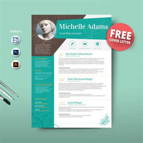 free creative resume template 16 ms word resume templates with the professional look