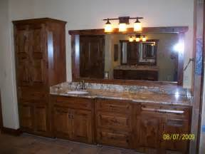 knotty alder custom cabinets traditional bathroom