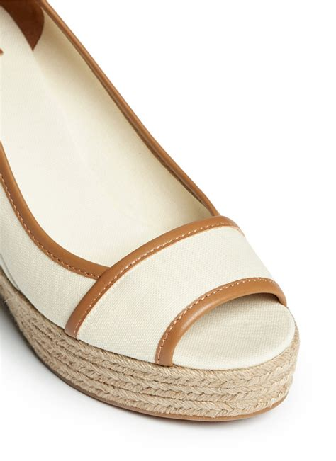 Piped Espadrille Wedge From Outfitters by Burch Majorca Canvas Espadrille Wedge Sandals In