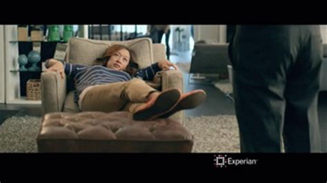 experian commercial ottoman actress experian tv commercial credit swagger furniture