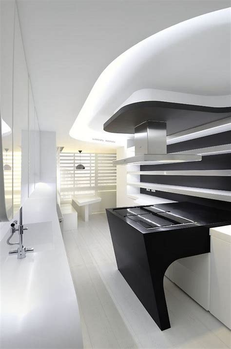 cool kitchen designs intriguing sci fi apartment design by a cero freshome