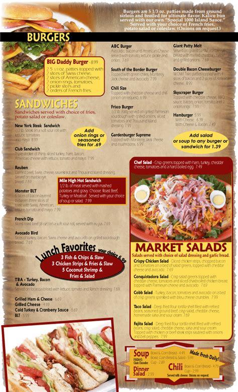 Kalico Kitchen Menu portfolio