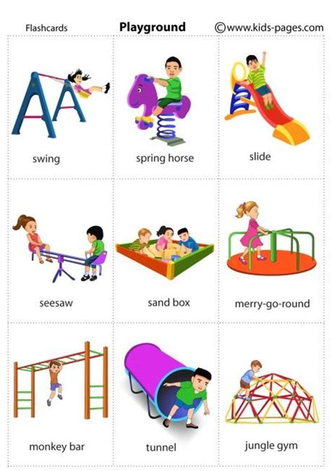 Chil Go Vanilla 1 Pags playground flashcard flashcards pages playgrounds and flashcard