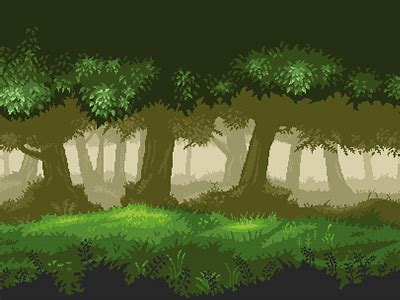 parallax forest background  luis zuno dribbble dribbble