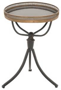 enticing and unique styled metal marble accent table traditional side tables and end tables