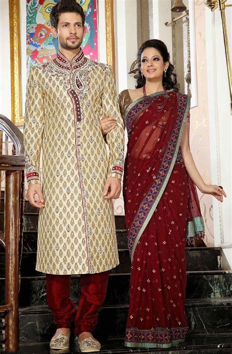 Dress Tradisional India Abu Abu beige hindu wedding sherwani in brocade buy indian wedding clothes