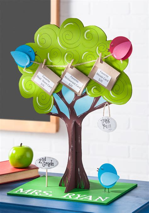 Teacher Gift Card Tree - craft painting gift card tree for teacher appreciation day