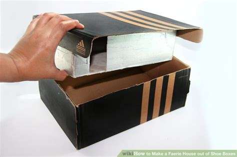 How To Make A Shoe Box Out Of Paper - how to make a faerie house out of shoe boxes 8 steps