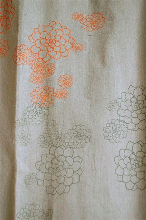 orange and grey shower curtain shower curtain unbleached canvas with orange grey