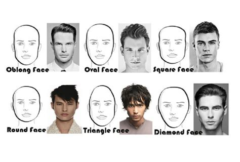 haircuts by head shape best mens haircuts for each face shape