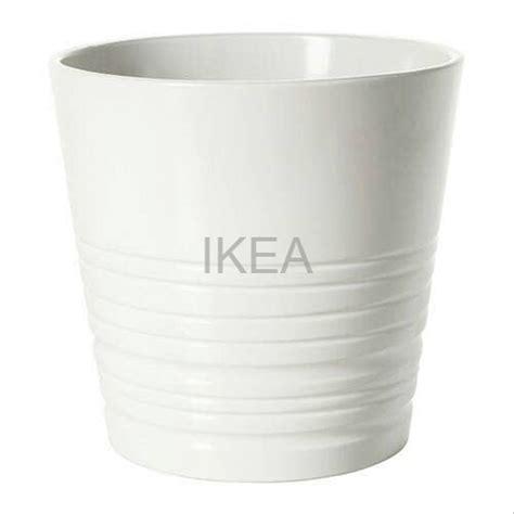 jual ikea muskot pot tanaman putih cm tembikar  lapak