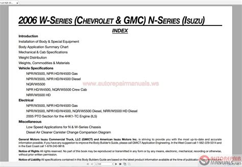 service manual free download of 2006 isuzu i series owners manual how fix replacement 2006 gm isuzu truck nqr 2006 n series repair manual auto