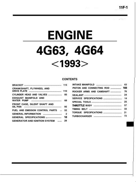 mitsubishi 4g63 4g64 engine