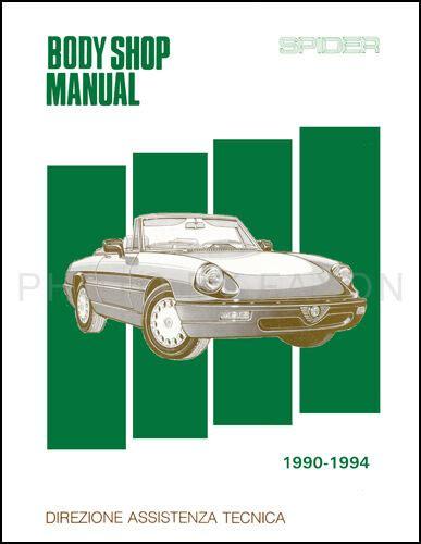 where to buy car manuals 1992 alfa romeo spider auto manual alfa romeo spider body shop manual 1991 1992 1993 1994 veloce graduate quadrifog ebay