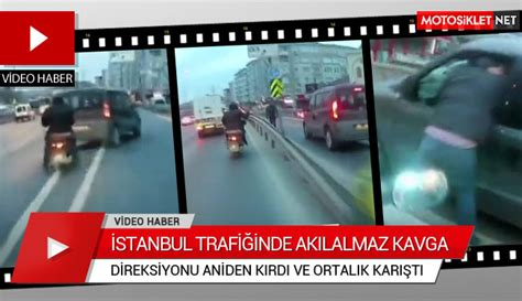 istanbul trafiginde akilalmaz kavga