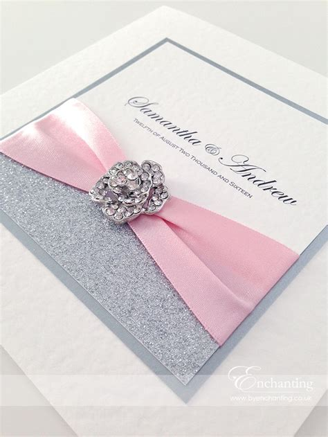 pink sparkly wedding invitations the cinderella