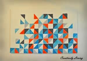 square and triangle geometric art cypresstextiles