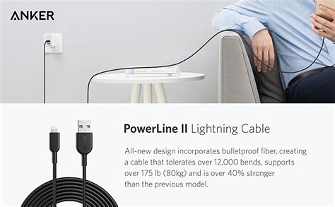 anker nz anker powerline ii lightning cable 3 0m cablegeek new